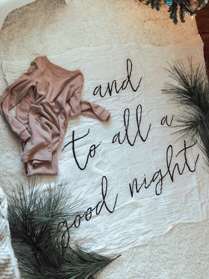 Load image into Gallery viewer, Organic Cotton Muslin Swaddle Blanket -   and to all a good night