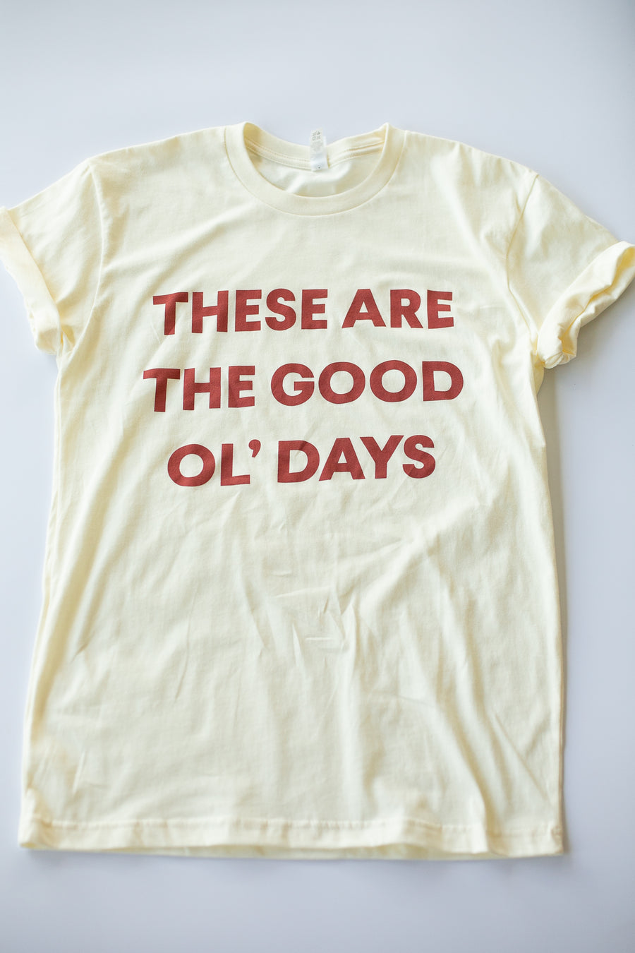 These are the good ol' days Unisex Crewneck Tee | Cream