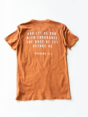 Load image into Gallery viewer, Made in the USA | Hebrews 12:1 Unisex S/S Crewneck Tee - Sunburn