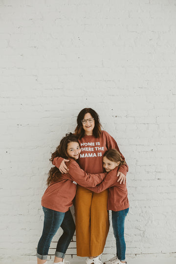 Home is where the mama is Adult Sweatshirt