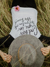 Raglan Tee - God has you in the palm of His hand Isaiah 49:16