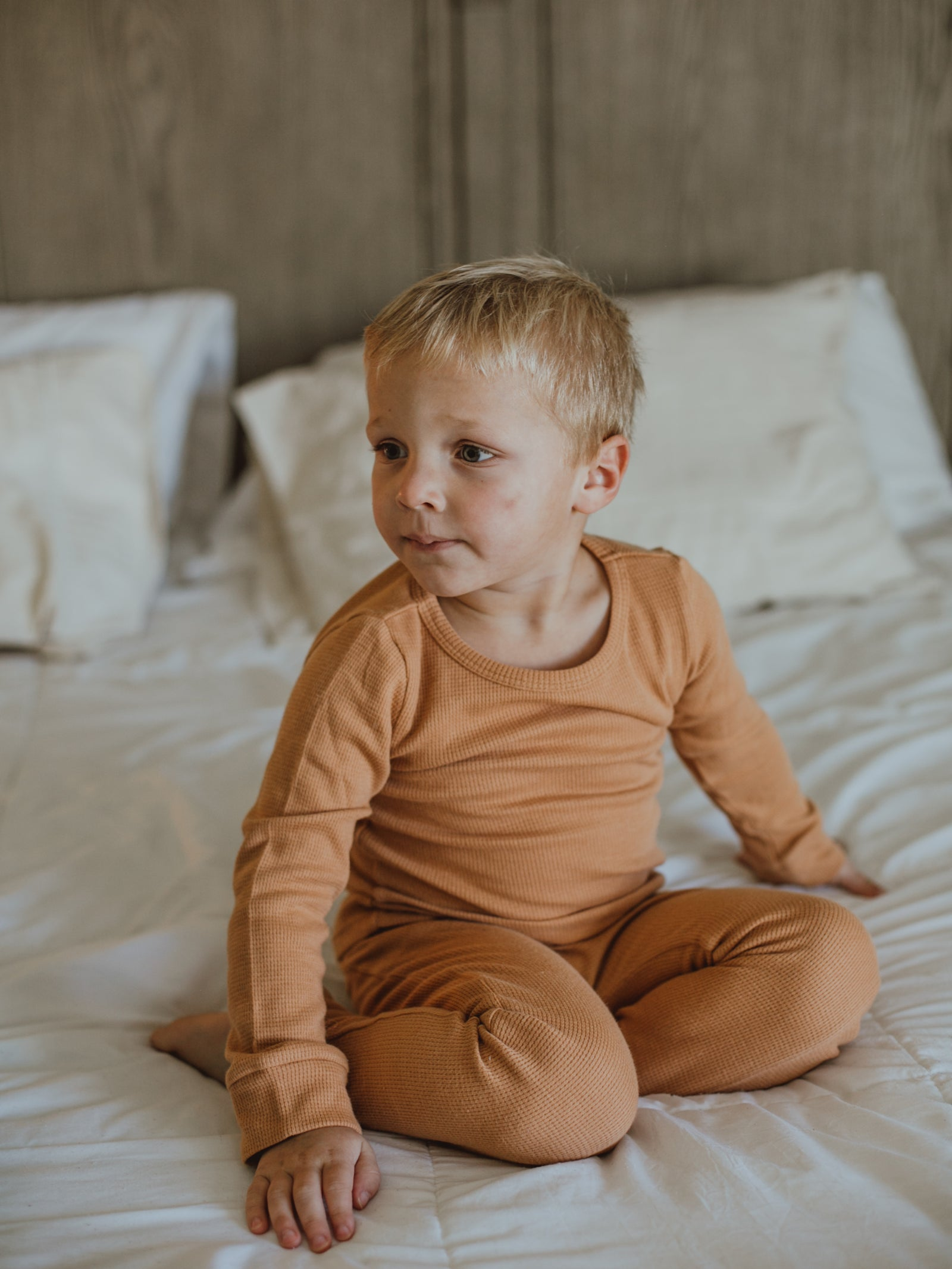 Baby + Child Organic Thermal Pajama Set - GINGER