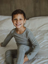 Baby + Child Organic Thermal Pajama Set - NEUTRAL GRAY