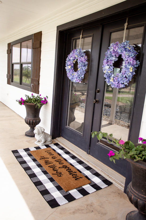 XL Doormat | Love is the Greatest of all things 1
