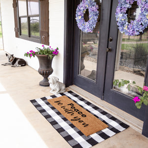 XL Doormat | Peace be with you
