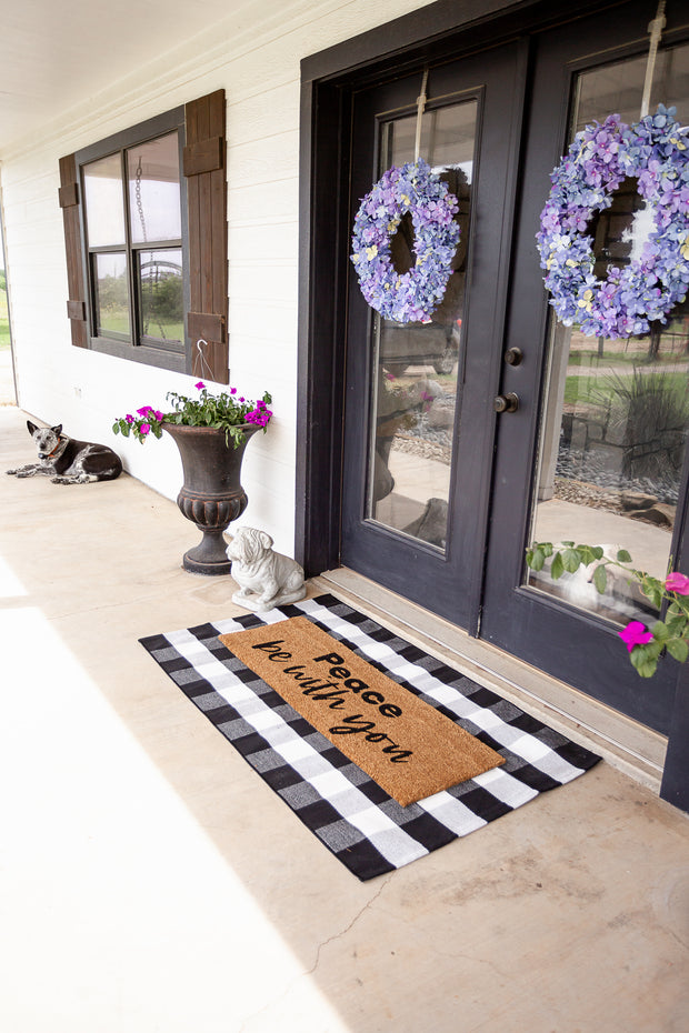 XL Doormat | Peace be with you 1
