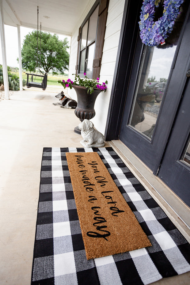 XL Doormat | You oh Lord have made a way 1