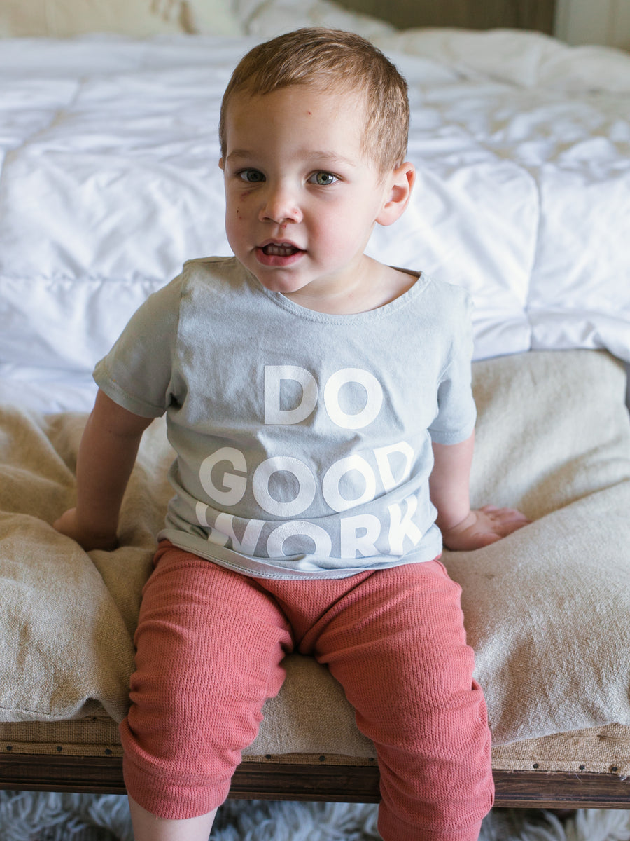 *IMPERFECT* Do Good Work Scoop Neck Youth Tee -  Light Gray