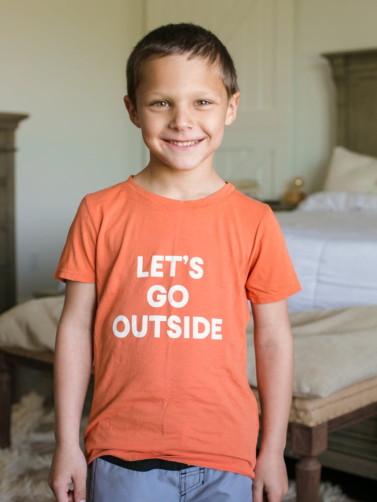 Load image into Gallery viewer, Let's go outside Kid's Crewneck Tee