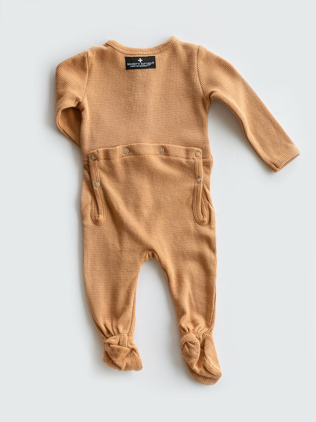 Organic Thermal Button Footie with Explorer Back - Colors 1