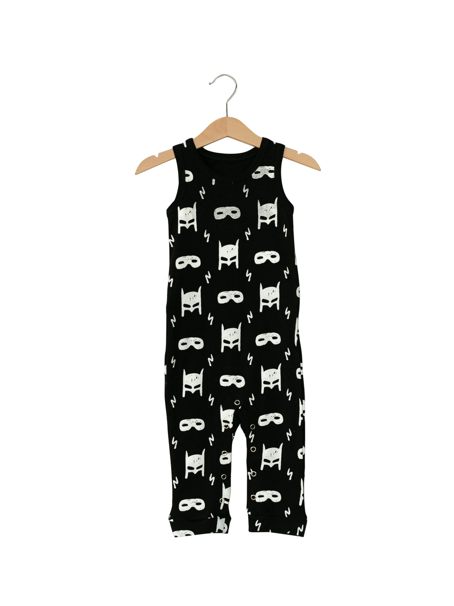 Organic Tank Jumpsuit with Explorer Back -  Prints