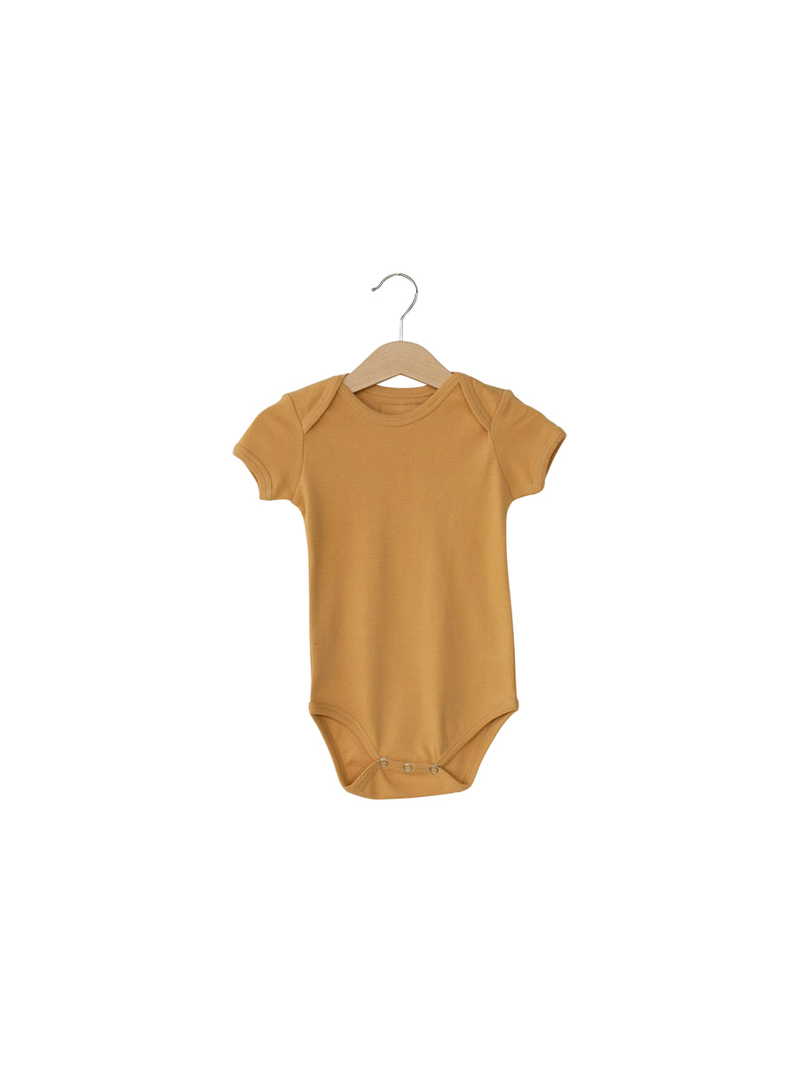 Organic Short Sleeve Bodysuit -  Colors