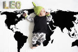 Organic Cotton Muslin Swaddle Blanket - WORLD MAP
