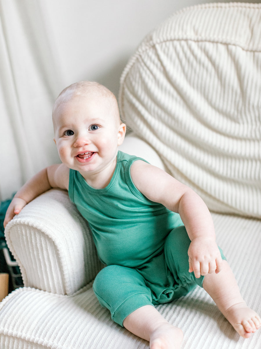 Organic Tank Jumpsuit with Explorer Back -  Colors