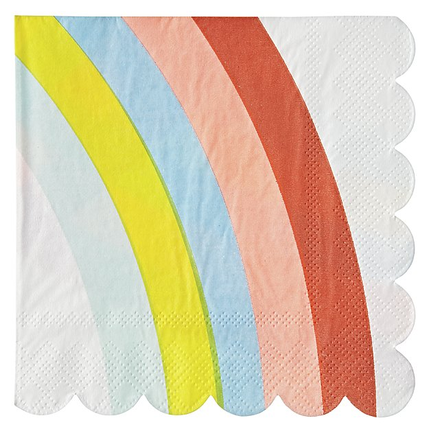 Meri Meri -  Rainbow Small Napkin Set of 20