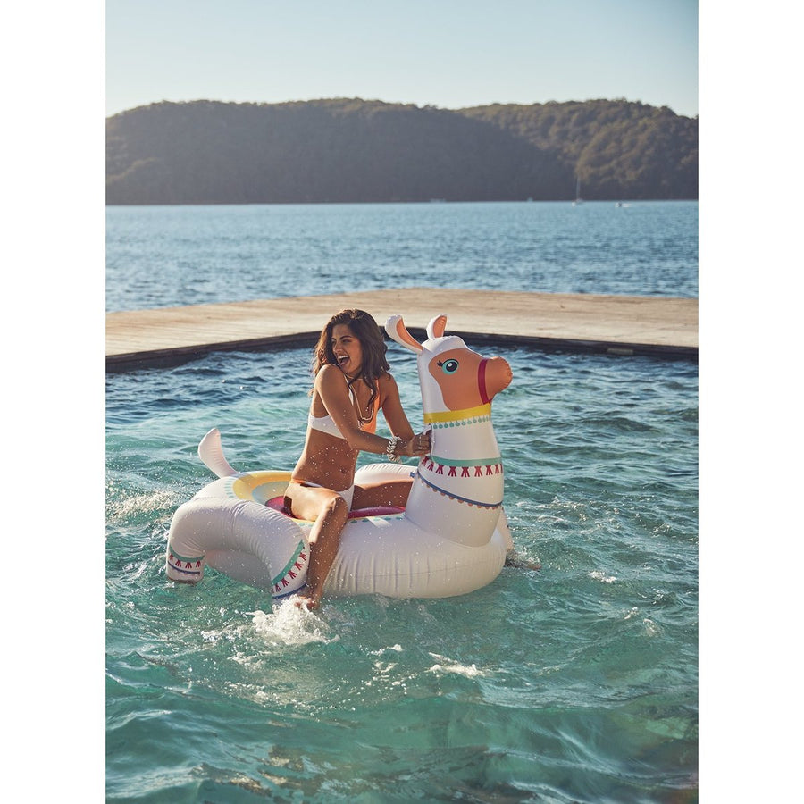 Sunny Life Luxe Ride-On Float | Llama