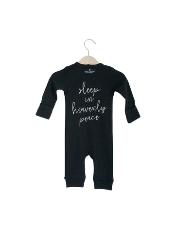 Organic Button Coverall -  SLEEP IN HEAVENLY PEACE