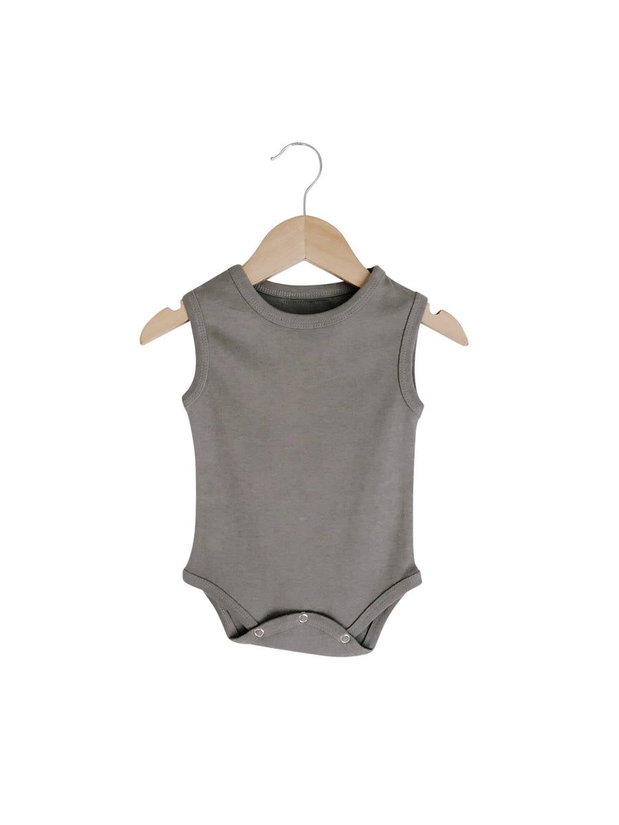 Organic Tank Bodysuit - SOLID COLORS
