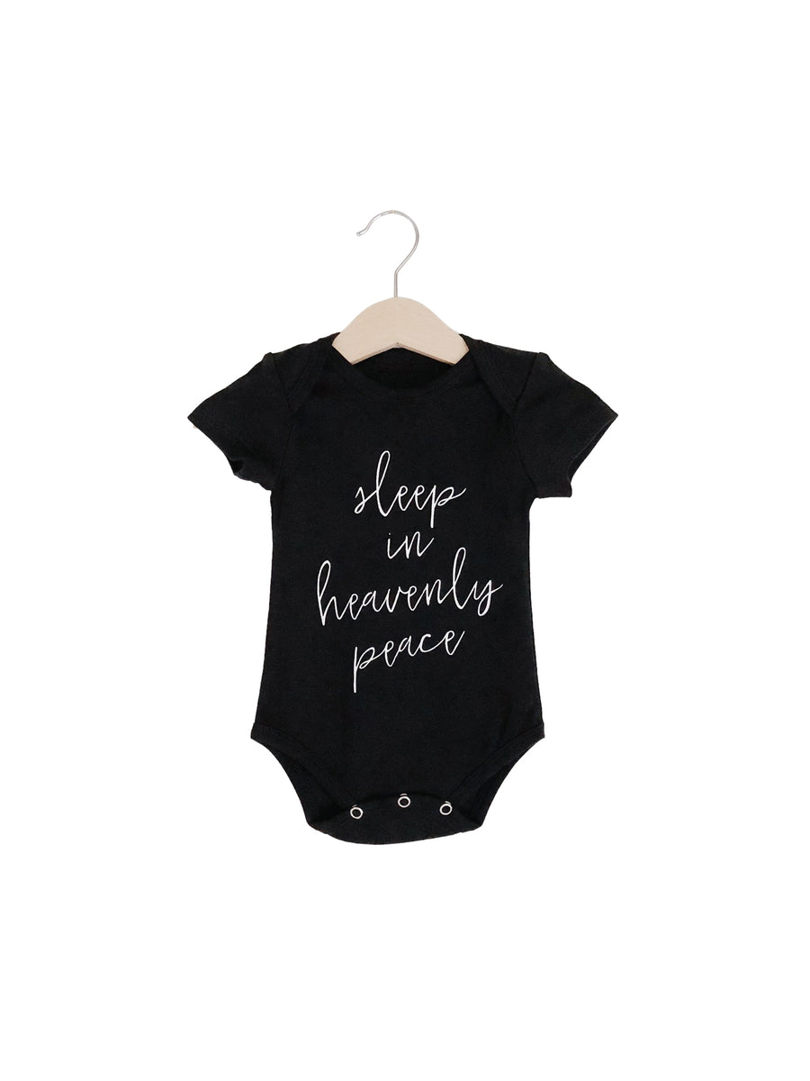 Organic Short Sleeve Bodysuit -  SLEEP IN HEAVENLY PEACE