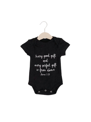 Organic Short Sleeve Bodysuit  -  James 1:17