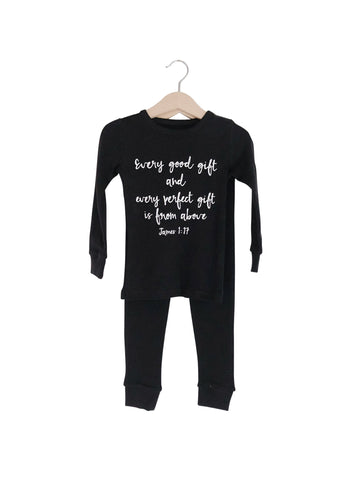 Organic Pajama Set ☆ JAMES 1:17