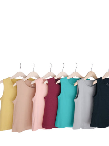 Organic Basic Tank ☆ SOLID COLORS