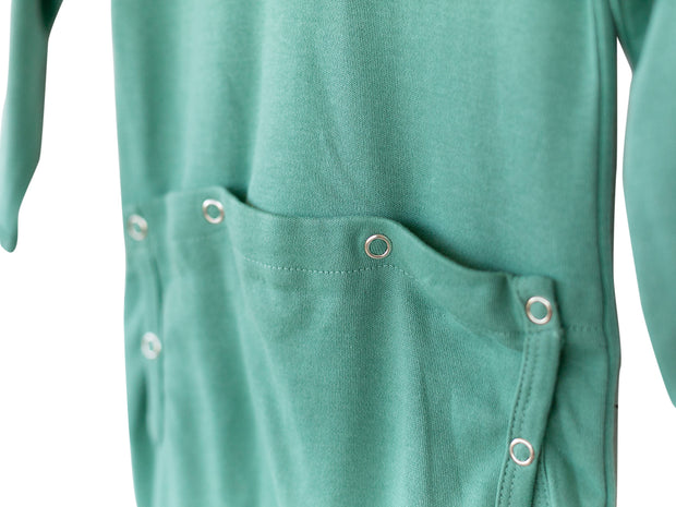 Organic Button Footie with Explorer Back - Colors 1