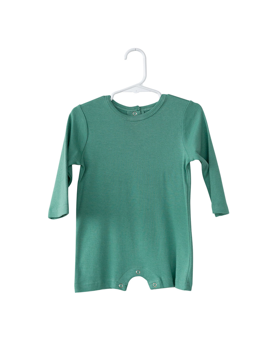 Organic Long Sleeve Romper -  Colors