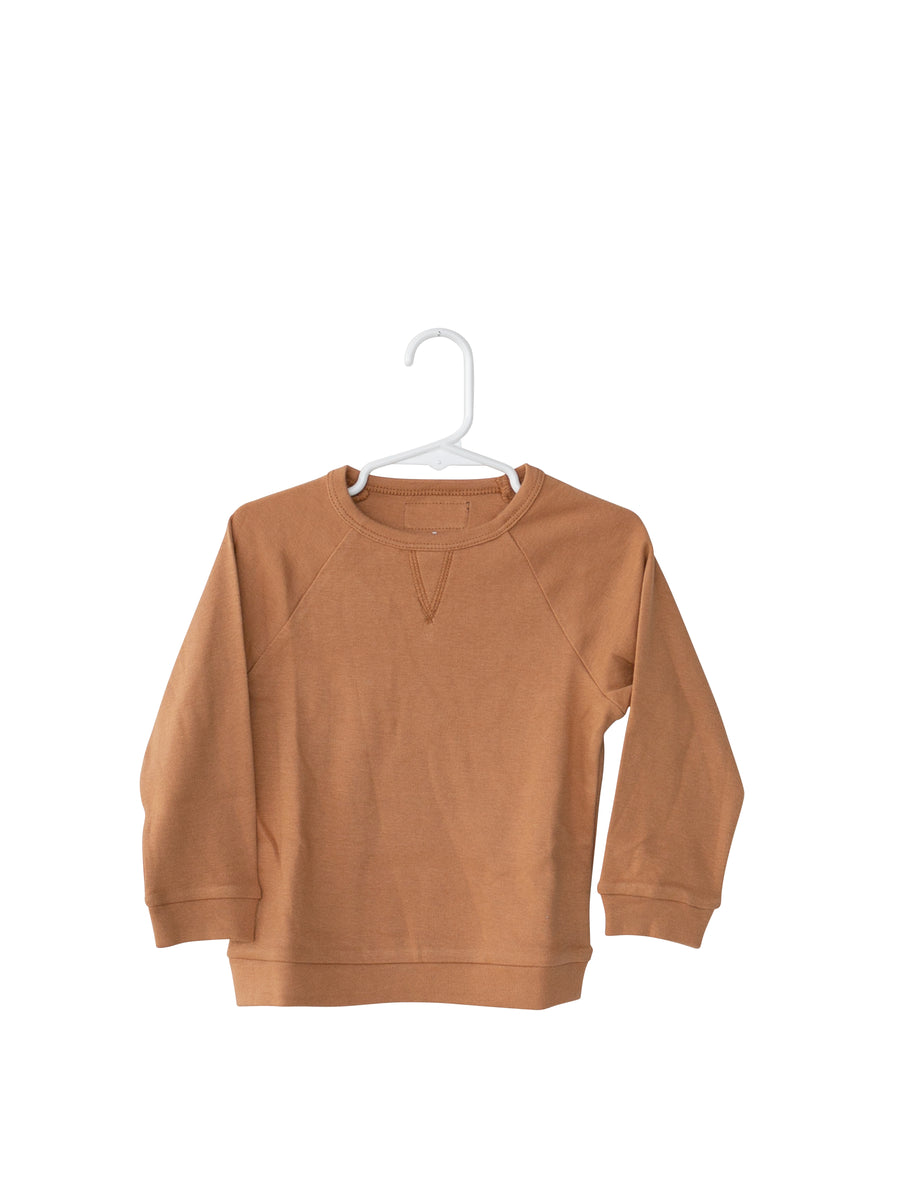 Baby + Child Organic Lightweight Crew Sweatshirt -  GINGER