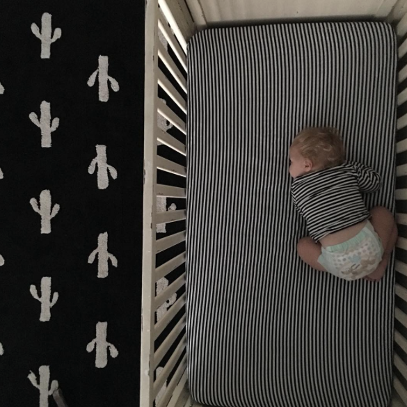 Organic Crib Sheet - Stripe