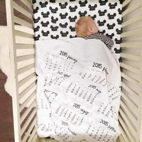 Organic Crib Sheet - Modern Mouse