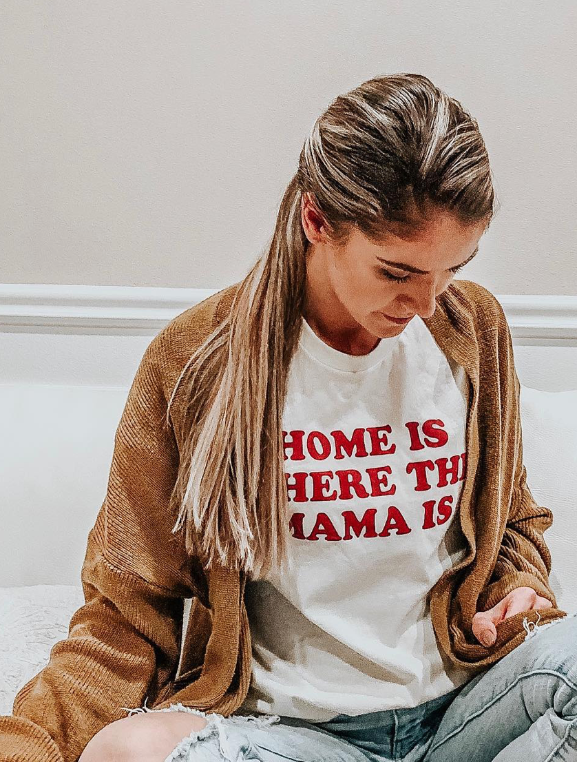 '-  TEE FOR A CAUSE -  Home is where the mama is Unisex Crewneck Tee | Cream