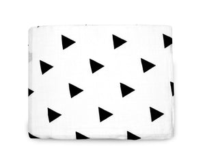 Load image into Gallery viewer, Organic Cotton Organic Cotton Muslin Swaddle Blanket -  TRIANGLES