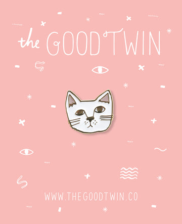 The Good Twin -  Kitcat Pin + Post Card