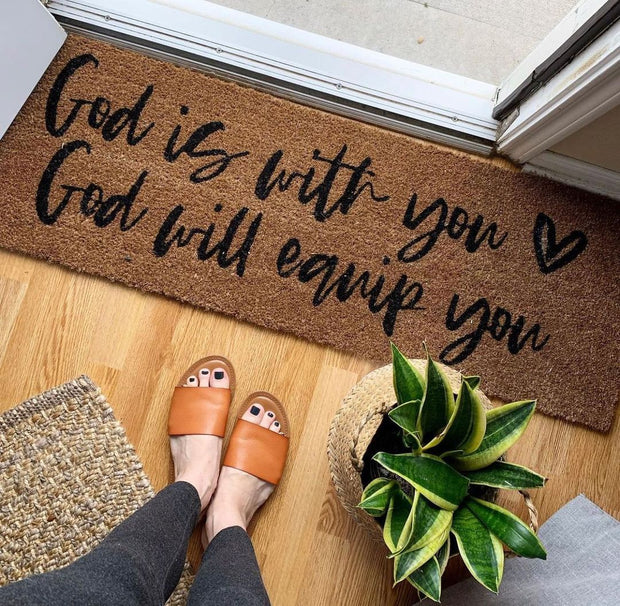 XL Doormat   God is with you God will equip you 1