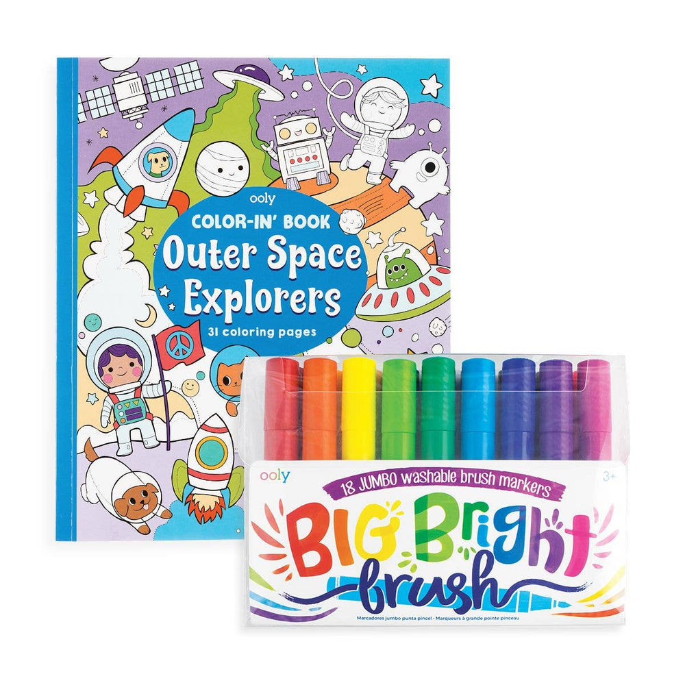 OOLY - Big & Bright Outer Space Coloring Pack