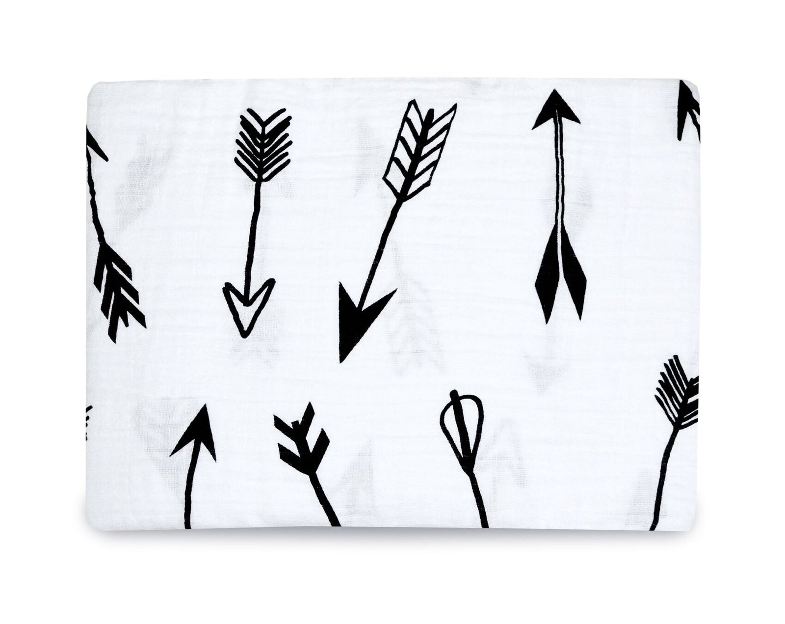 Organic Cotton Muslin Swaddle Blanket - Arrows ©