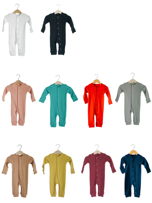 Load image into Gallery viewer, Organic Button Coverall -  Colors
