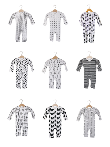 Organic Button Coverall -  Prints