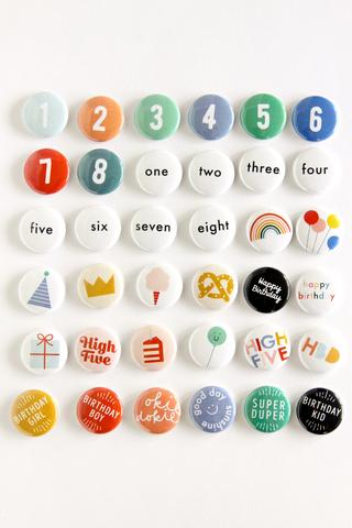 Hip Hip - Birthday Buttons