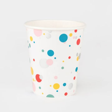 8 Paper Cups Foil Multicolour Bubbles (3.5 inches / 9cm in height and 8cm in diameter)