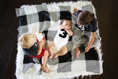 Cotton Organic Cotton Muslin Swaddle Blanket -  Plaid
