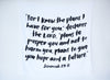 Organic Cotton Muslin Swaddle Blanket - Jeremiah 29:11