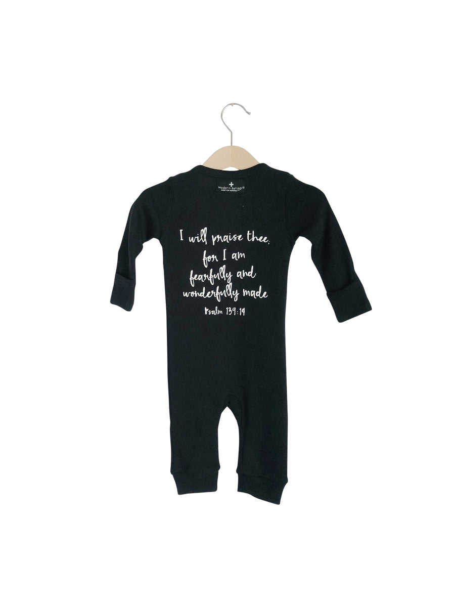 Organic Button Coverall -  Psalm 139:14