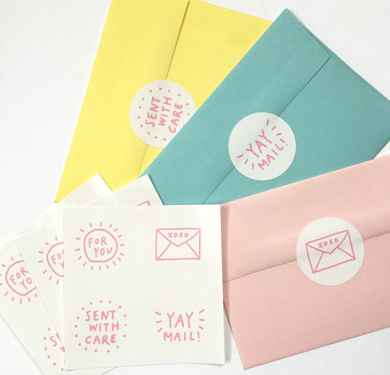 Envelope Seal Stickers! 12 Pack