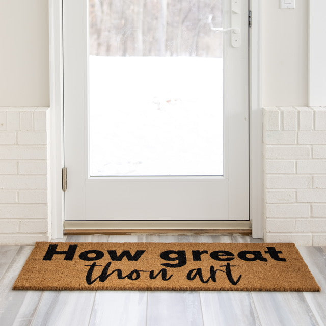 Load image into Gallery viewer, XL Doormat | How Great Thou Art