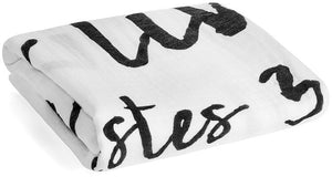 Load image into Gallery viewer, Organic Cotton Muslin Swaddle Blanket + Wall Art -  Ecclesiastes 3:11