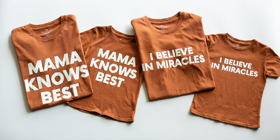 Made in the USA TEE FOR A CAUSE | I believe in miracles Kid S/S Crewneck Tee - Sunburn
