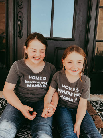 Home is where the mama is Kids Scoop Neck Tee
