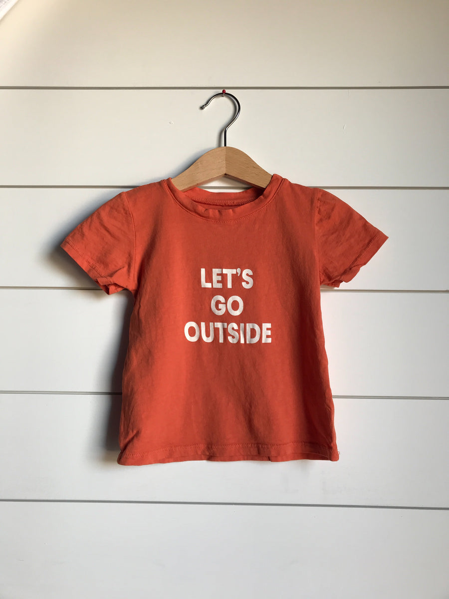 Let's go outside Kid's Crewneck Tee